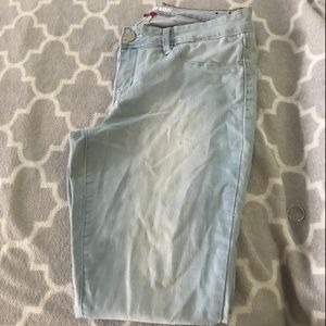 YMI light blue jeans, very stretchy, high wasted